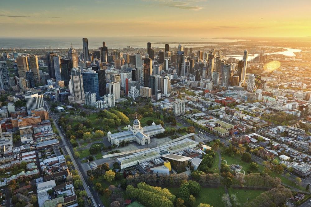 La ciudad de Melbourne en Australia