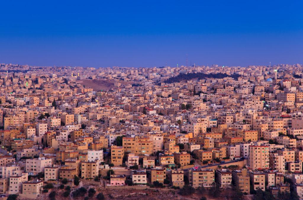 Ciudad de Amman en viaje a Jordania