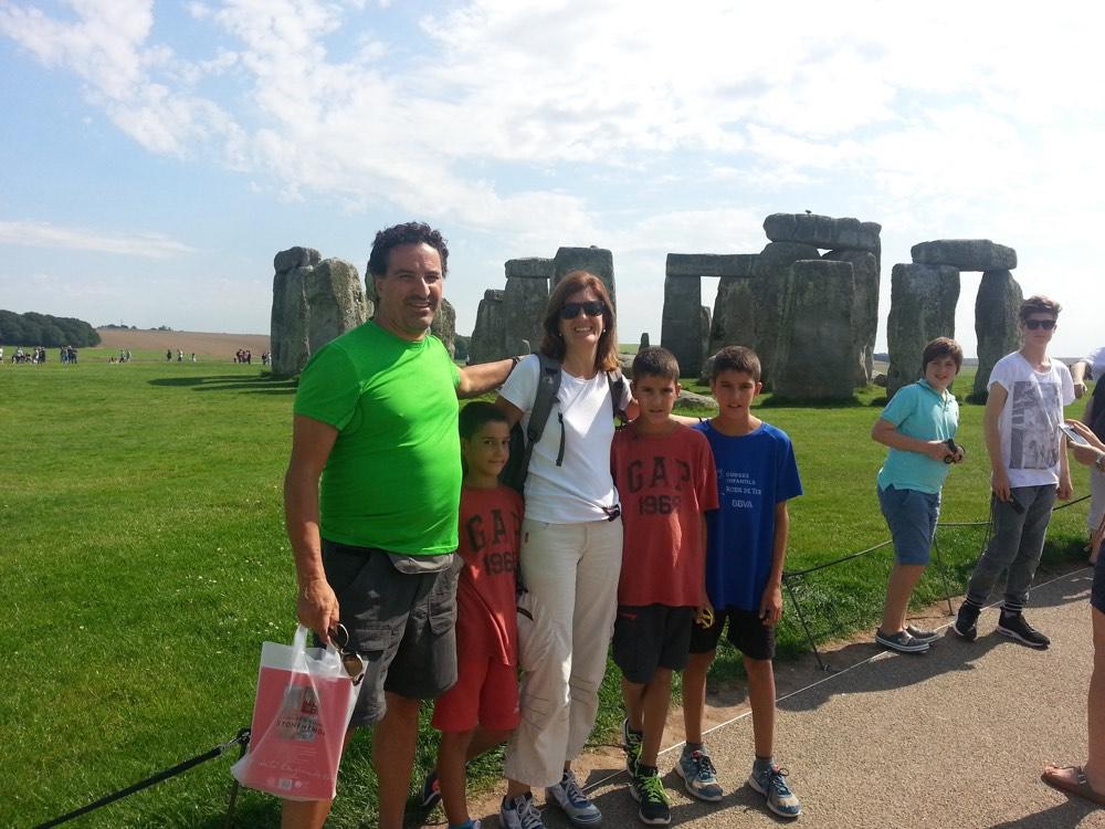 Visitar Stonehenge en familia