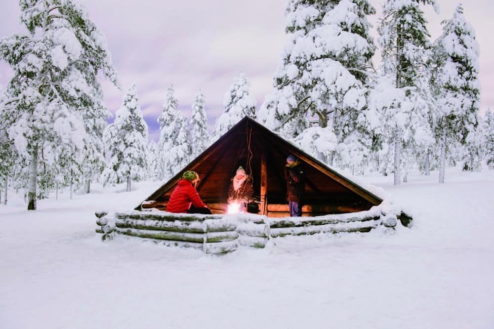 Acampada en Laponia en familia