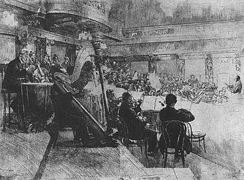 Imagen de la Filarmónica de Viena en 1926 (Wikipedia)