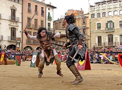 Escena mercat medieval de Vic