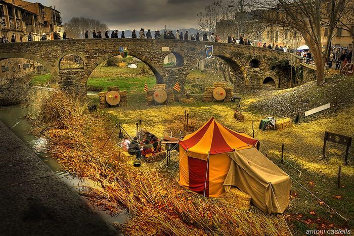Campament medieval al pont de vic