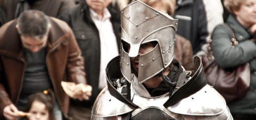 Un guerrero en el mercado medieval de vic