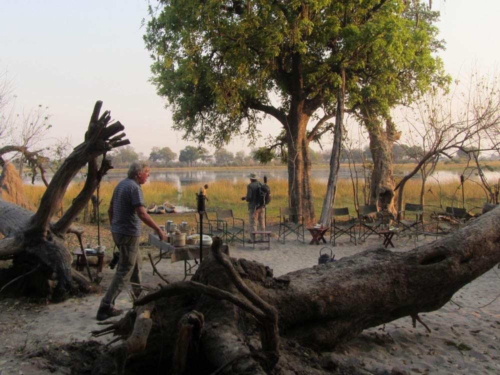 Acampada al delta de l'Okavango