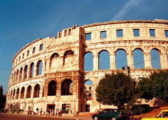 Monuments romans en els viatges a Croàcia