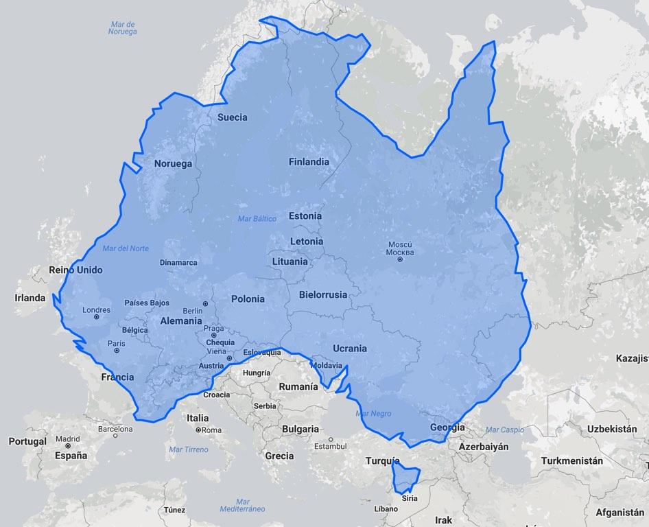Austràlia comparada amb Europa