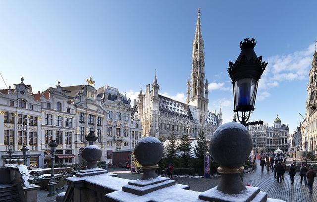 Una bella estampa de la Navidad en Bruselas