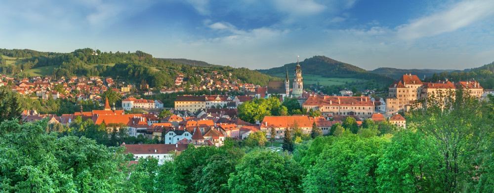La ciutat de Český Krumlov a Bohèmia a la República Txeca