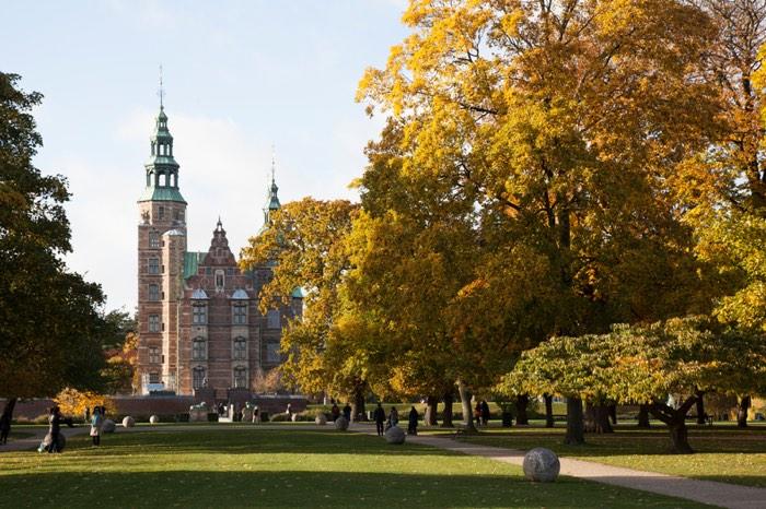 Castillo de Rosenborg en Dinamarca
