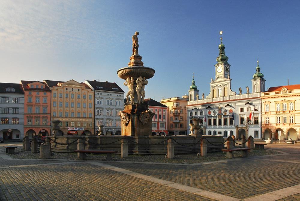 La ciutat de Ceske Budejovice a Bohèmia