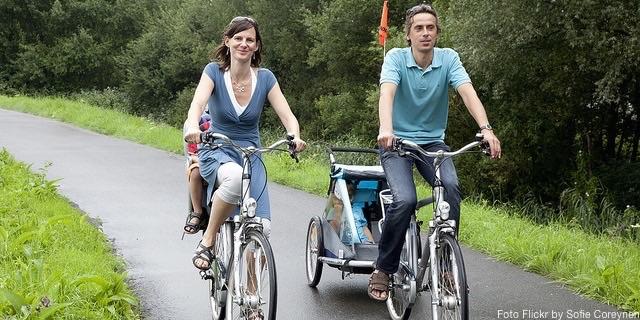 Pasear con tus hijos por Flandes en bici es un privilegio