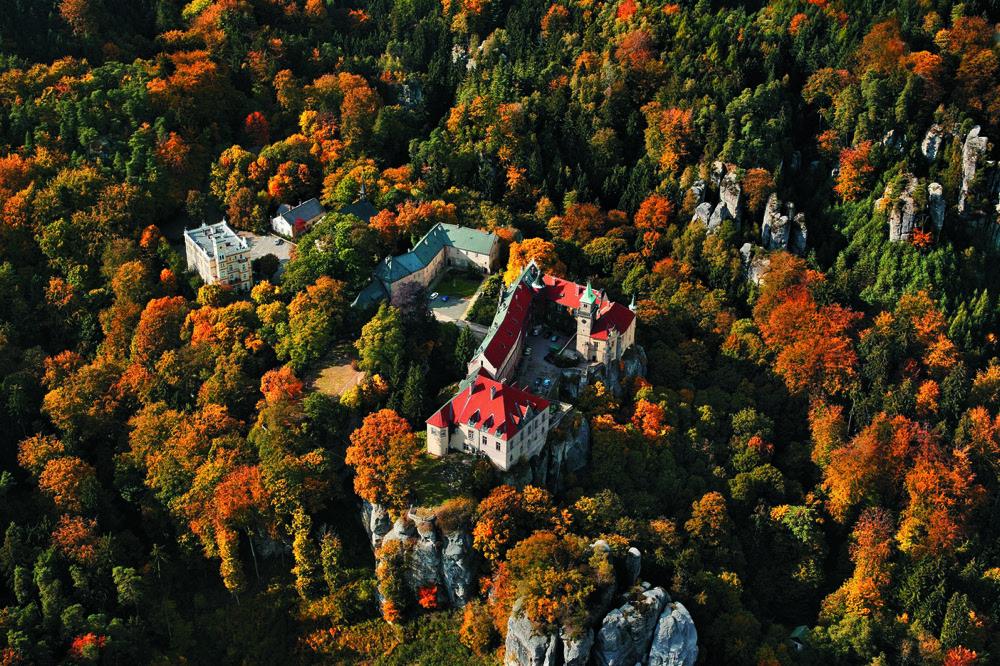 Castillo de Hruba Skala en Bohemia