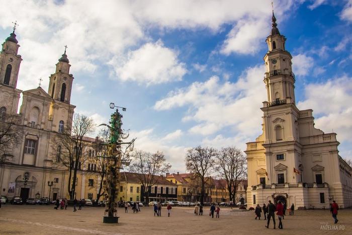 La ciudad de Kaunas en Lituania