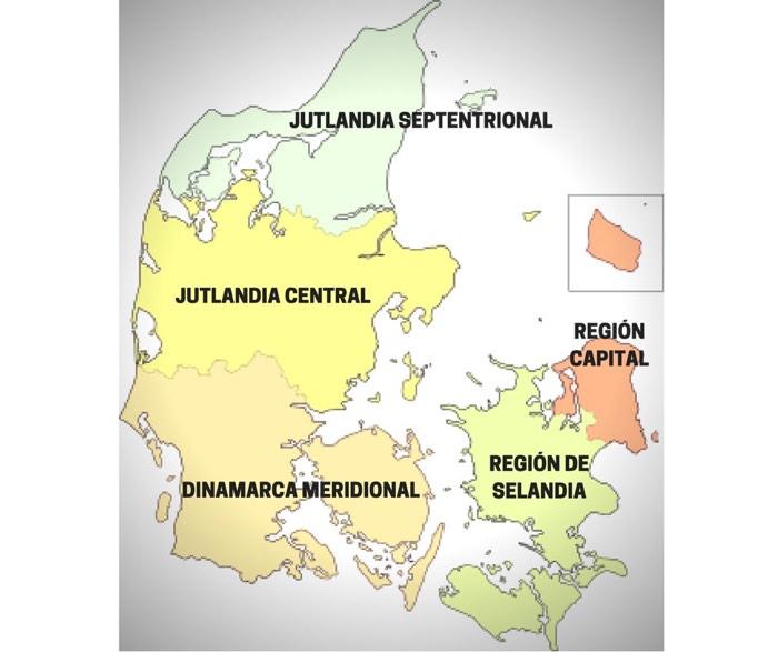 Mapa de Dinamarca