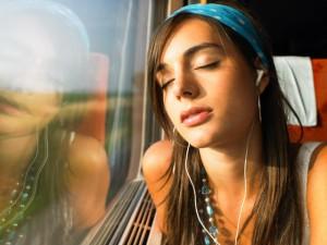 Sleeping on the Train --- Image by © Morgan David de Lossy/Corbis