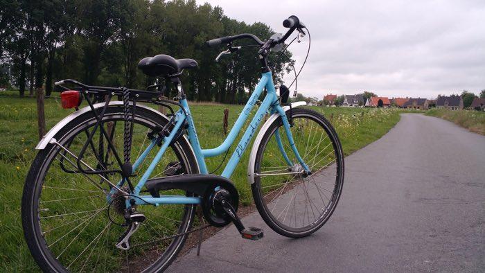 Paisaje por Bélgica en bici