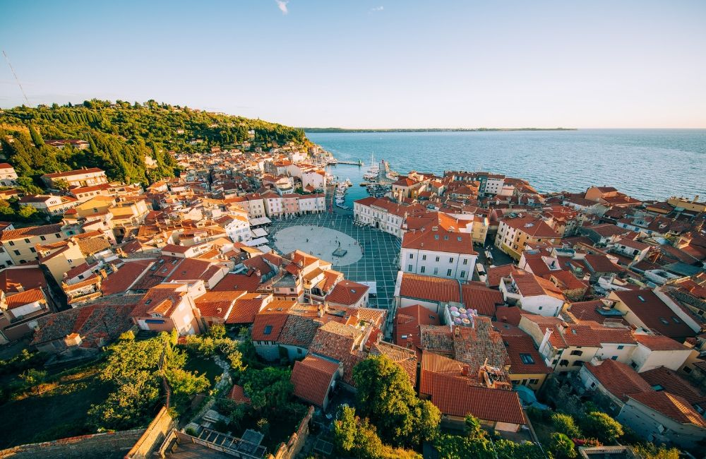 Piran en la costa de Eslovenia