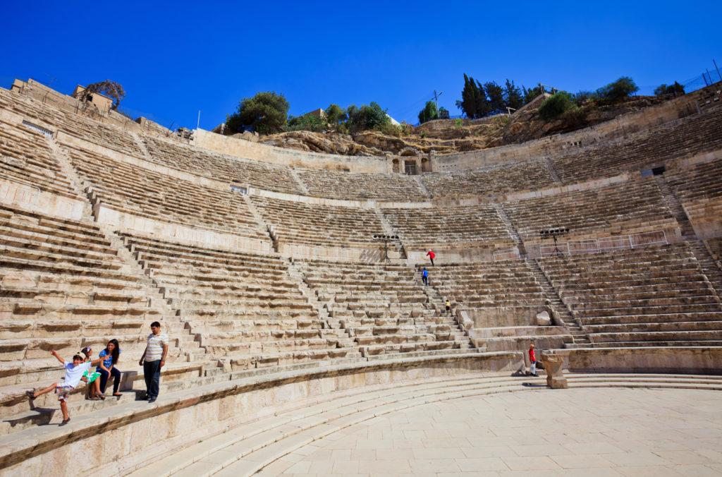 Teatro romano de Amman en Jordania