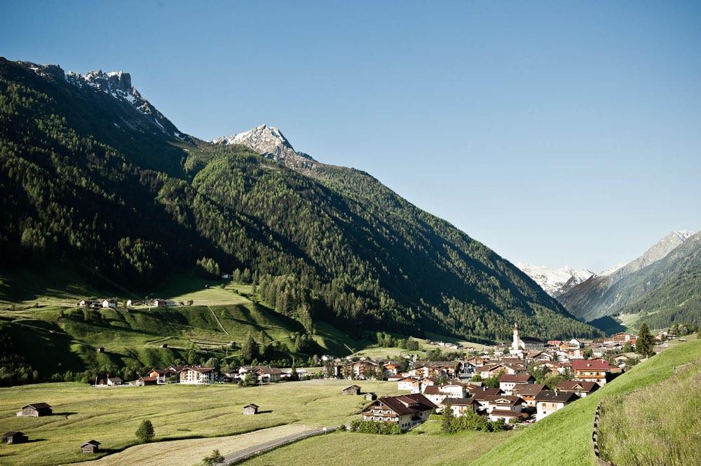 El poble de Neusift a la vall de Stubai