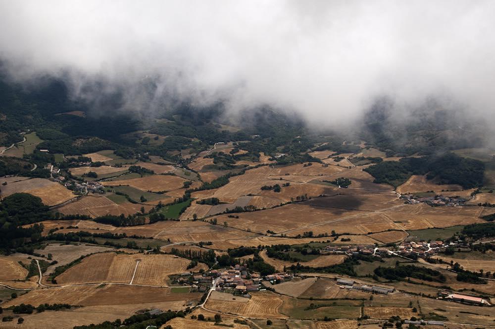 Vistas de la ruta en bici Valle de Ollo en Pamplona