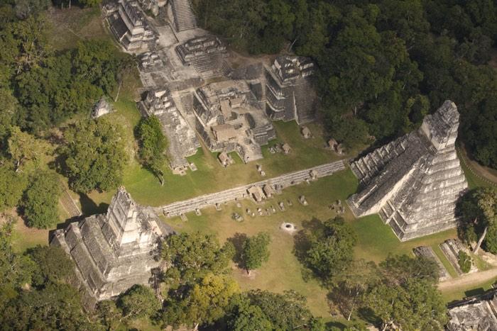 Vista aèria de Tikal