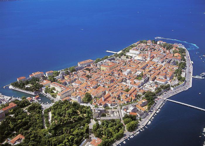 El poble de Zadar en els viatges a Croàcia