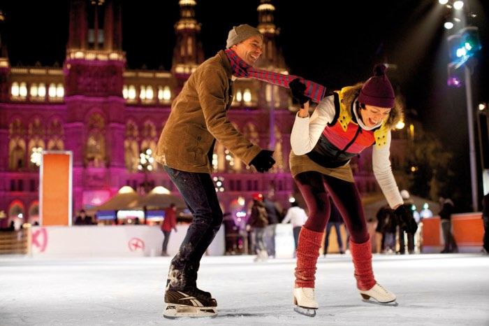 Patinant sobre gel a Viena