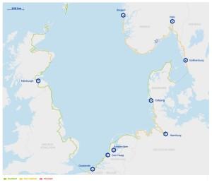 mapa Eurovelo ruta 12