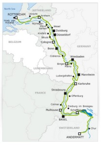 mapa Eurovelo ruta 15