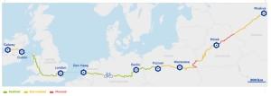 mapa Eurovelo ruta 2
