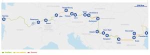 mapa Eurovelo ruta 6
