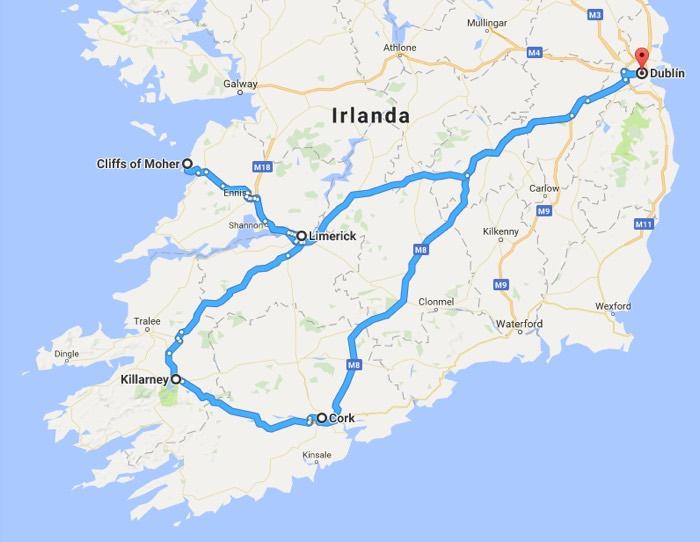 Recorrido 2: Que ver en Irlanda en 4 dias