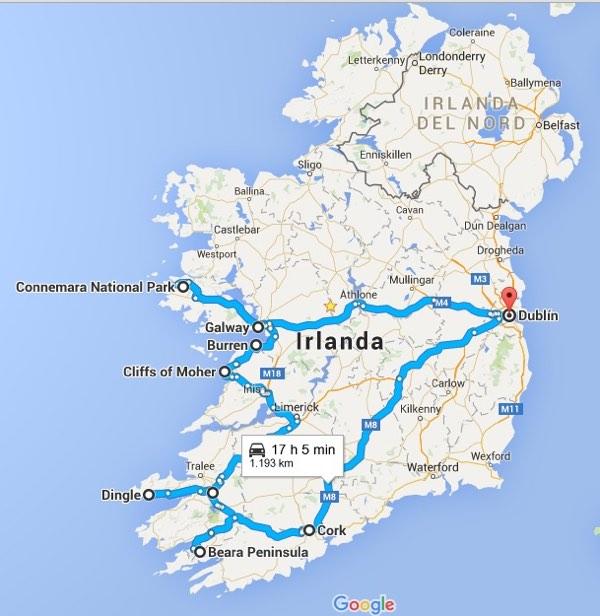 Ruta sobre qué ver en irlanda en 7 días