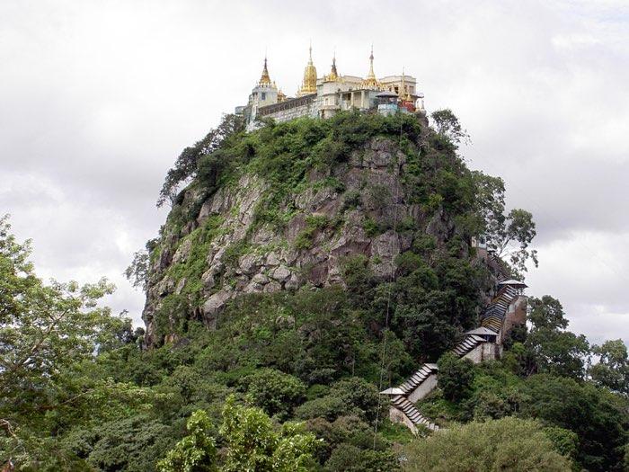 Monte Victoria se visita al viajar a Birmania
