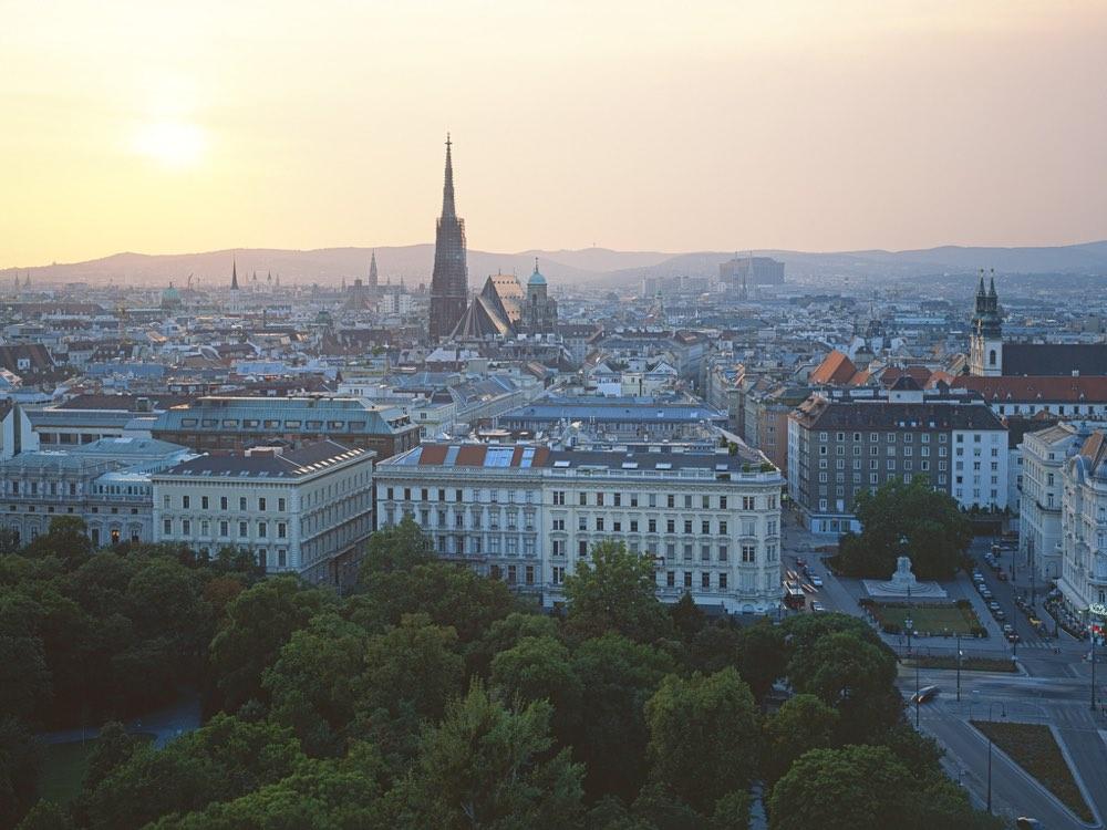 Vista panorámica de la ciudad de Viena